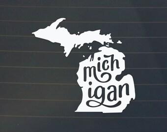 Michigan Car Decal - Michigan Decal - Michigan Sticker