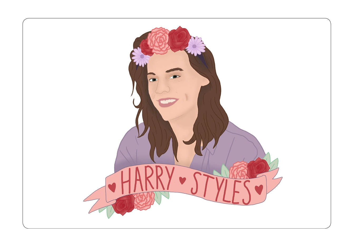 Flower crown sticker one direction harry styles stationery art zoom izmirmasajfo Image collections