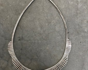 Gradated Sterling Silver Collar Necklace - Collar Necklace - Gradiated Silver Necklace - Sterling Silver Necklace - 925