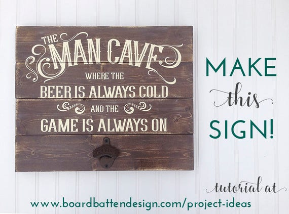 Man Cave Signs Australia : Man cave svg file fathers day sign