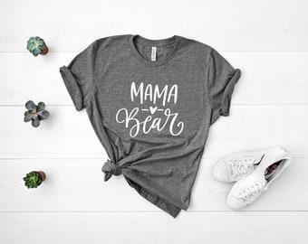 Mama Bear Shirt, Mama Bear, Mama Bear TShirt, Mom Life Shirt, MomLife Shirt, Pregnancy Gender Reveal, Momma Bear Shirt, Boy Mom, Girl Mom