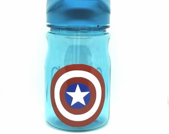 Personalized captain America 12 oz water bottle/straw cup/ tumbler