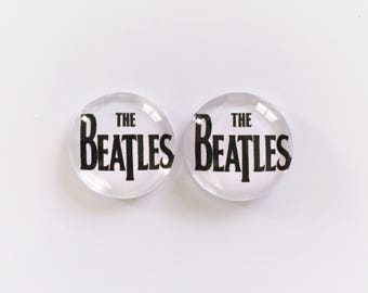 The 'Beatles' Glass Earring Studs