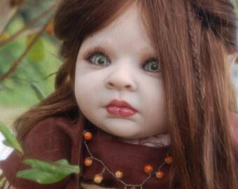 Sharon's Special Treasures Fantasy baby...Maleficent, reborn doll OOAK