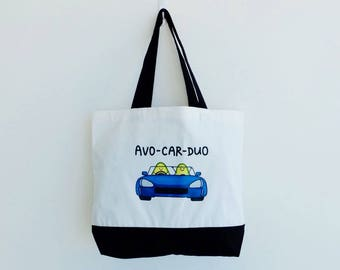 Avo-car-duo (Avocado) Two-Tone Tote Bag