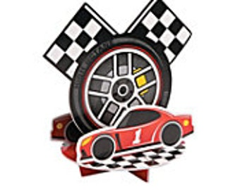My Racing Car Party centerpiece  / Race Party/ Race car Party Theme / My race car theme / Race car