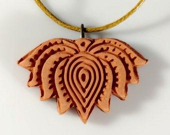 Lotus Essential Oil Diffuser Flower Necklace Terra Cotta