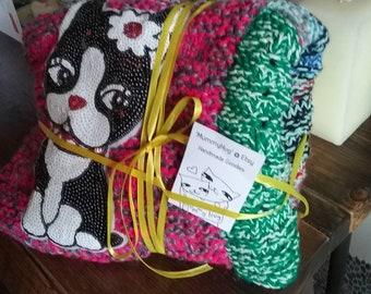 Knitted pet blanket, pet bed, dog blanket, dog comforter, dog bed, pet blanket, cosy blanket, travel blanket, luxury pet blanket,puppies,pet