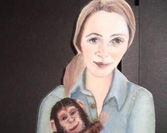 Jane Goodall bookmark