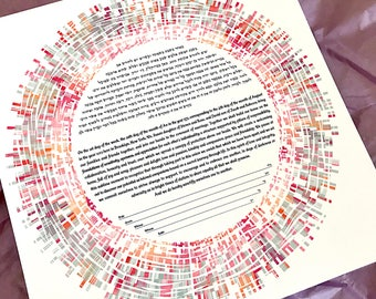Contemporary Ketubah - Love Tapestry