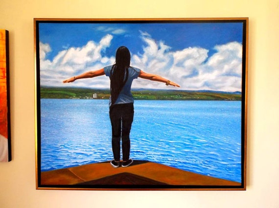 Ready to fly, oil on canvas, image size 24 x 30 inches, framed