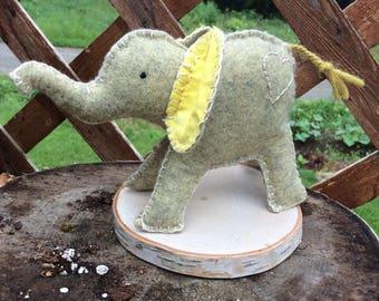 Wool Felt Play Elephant Waldorf Inspired Toy