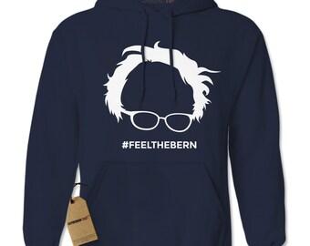 Hoodie Feel The Bern Hooded Jacket Sweatshirt Bernie Sanders Hoodie #1229