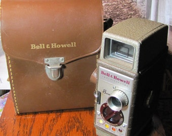 Vintage 50s Bell & Howell 8mm Camera with Original Case