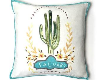 Saguaro Cactus Pillow, Cactus Pillow, Cactus Home Decor, Saguaro Cactus Illustration, Cactus Throw Pillow