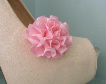 Beautiful Deeree Pale Pink Rosette Style Shoe Clips