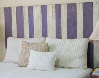 Dual Mix Color Design – Queen Hanger Headboard with Vertical Boards. Mounts on wall. Adjust height to your convenience. Easy installation.