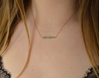 Necklace Aventurine * and fine chain