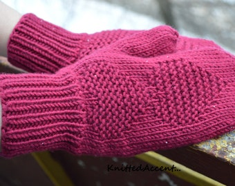 Hand Knit Mittens, Soft Wool Mittens, Knit Mittens, Hand Knit Gloves For Womens, Knit Wool Gloves, Warm Mittens, Knit Gloves For Womens