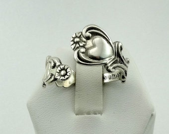 Collectable Pre-Owned Avon Floral Pattern Vintage Sterling Silver Spoon Ring FREE SHIPPING!  #AVON2-SR2