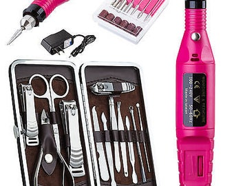 New PROFESSIONAL ELECTRIC NAIL FIle DrillManicure Tool Pedicure Machine Set kit