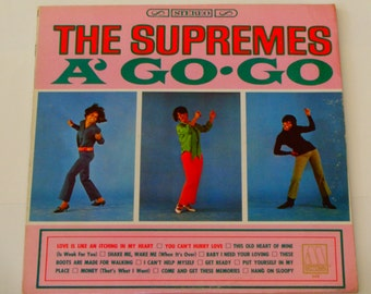 "The Supremes - A' Go-Go - ""You Can't Hurry Love"" - ""Baby I Need Your Loving"" - Original Motown Records 1966 - Vintage Vinyl LP Record Album"
