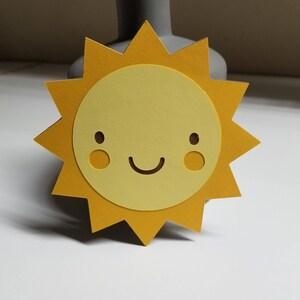 Happy Sunshine Sun Cutout