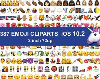 Instand DL - 2387 Emoji Enitre Clipart images Emoticons clip art PNG Files transparent background Digital Clipart Graphic ios 10.2