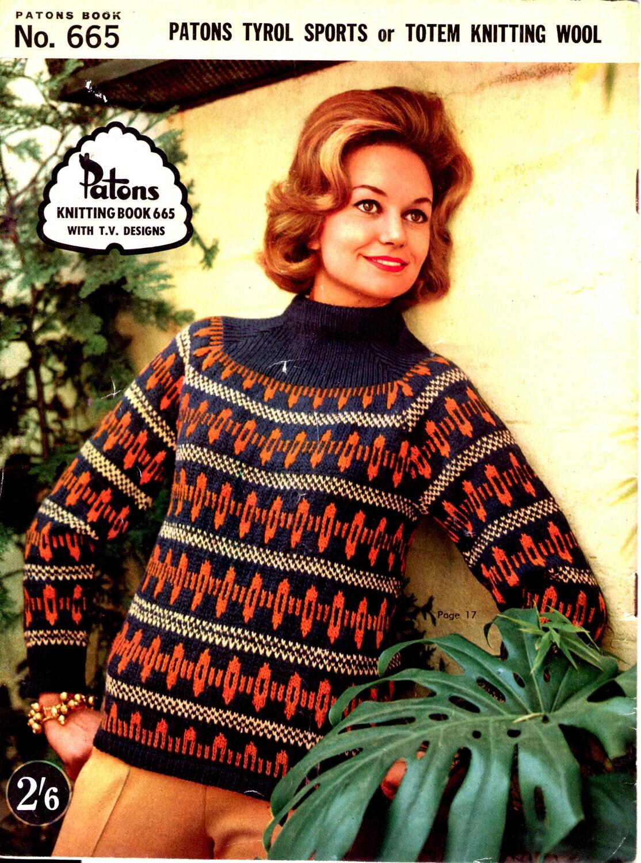 ON SALE - Paton\'s Knitting Pattern No 665 Fashion For Women/Ladies ...