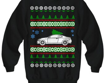 Infiniti G35 Coupe Ugly  christmas present sweater jdm enthusiast nissan fast car luxury