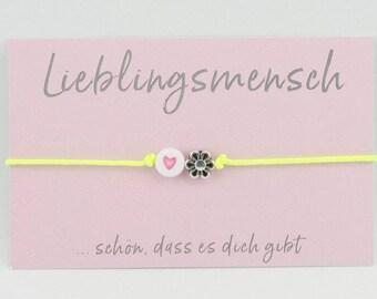 Bracelet * Favorite person * Heart Flower