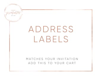 Matching Address Labels, Address Labels, Engagement Party, Baby Shower, Bridal Shower, Wedding Invitations, Printable Invitations, Custom