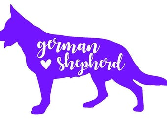German Shepherd Standing Decal | Dog Decal | Pet Decal | Personalized Decal | Yeti Cup Decal | Car Decal | Laptop Sticker | Window Decal