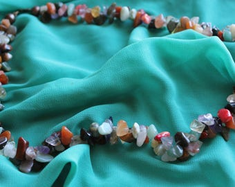 Chips necklace multicolor