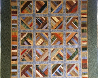 Large Lap Quilt Made in the Colors of the Southern Winter
