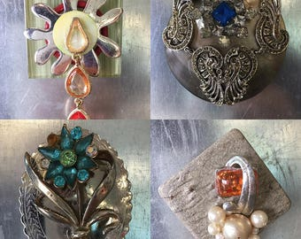 Upcycled Magnets from Broken Jewelry
