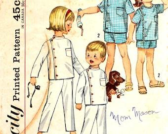 Child's Intern Pajamas Size 4 Simplicity 4714