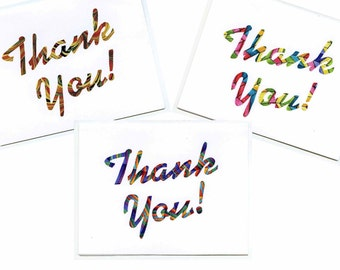 Set of 3 Thank You! Note Cards