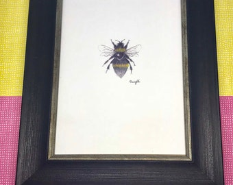 The Great Gatsbee, framed Bumblebee print, bee art, framed print