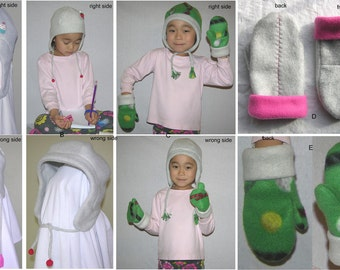 PDF Pattern - Children's, teen's, and adults' winter hat and children's mittens, Create your own, SINGLE SIZE Listing