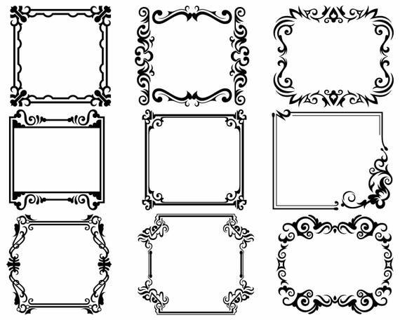 Download Frame svg/scroll clipart/frame svg/swirl silhouette/frame