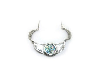 Beautiful Ladies Choker, 925 Sterling Silver Necklace, Ancient Roman Glass Necklace, Roman Glass Jewelry, OOAK
