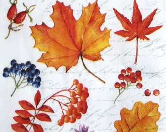 decoupage paper napkin Decoupage paper supplies Napkins for decoupage  fall