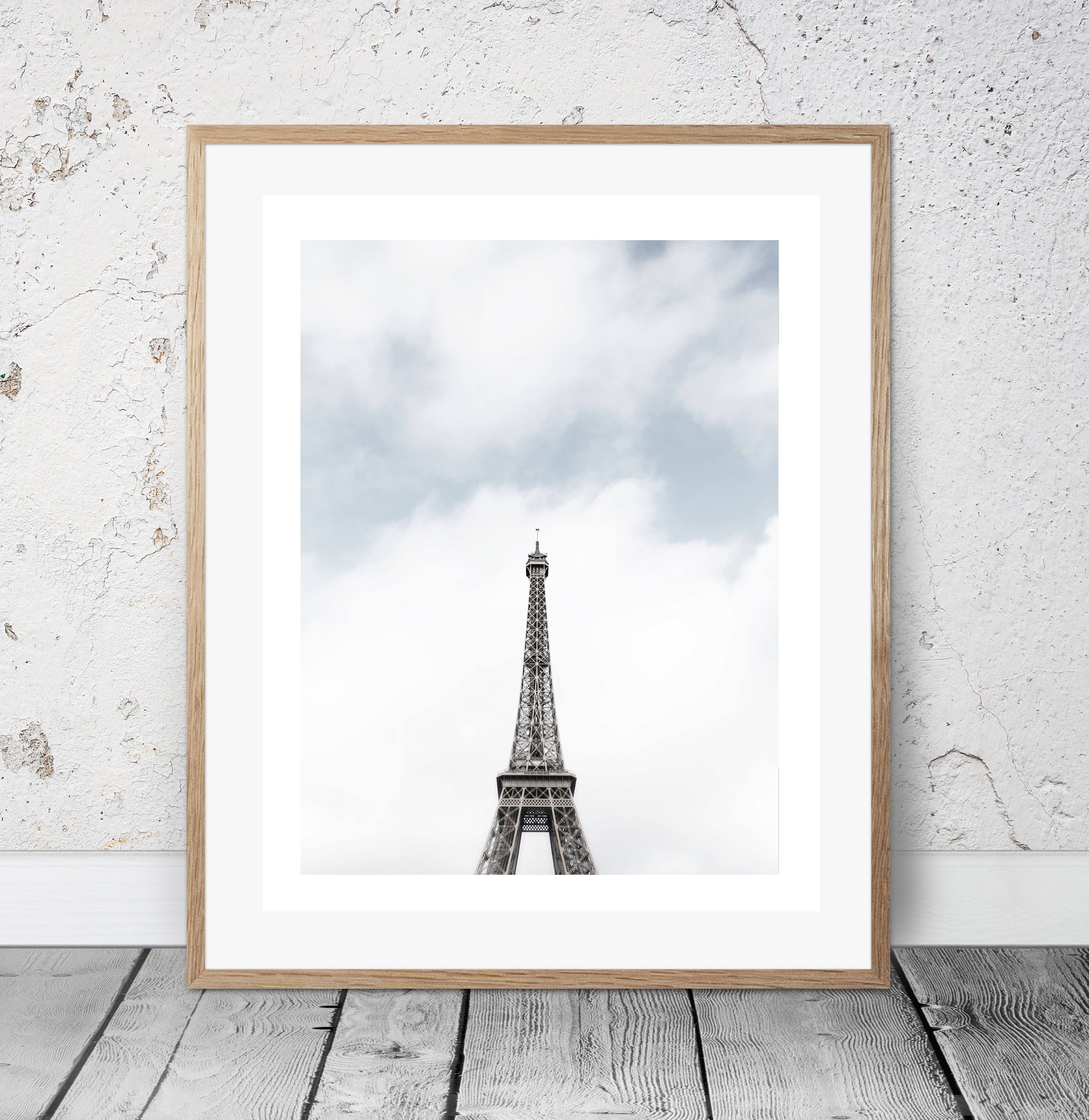 Eiffel Tower Room With A View, Paris Bedroom Decor, Gift For French Lovers,  Modern Minimalist, Digital Print, Architecture, Romantic Print