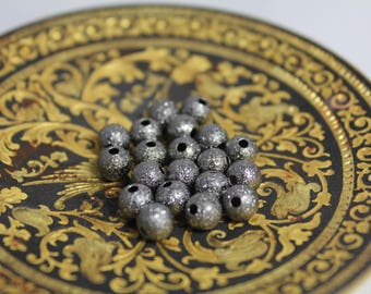 """Set of 20 pearls """"stardust"""" metal colors to choose from 6 mm"""