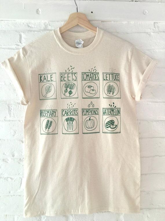 Garden T-Shirt Gardening Gift Kale Shirt Screen Print
