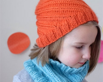 The Graham Twist Hat AND Cowl 2 PDF Patterns