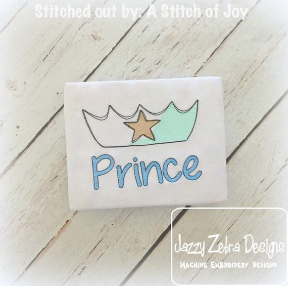 Prince Crown Sketch Embroidery Design - prince Sketch Embroidery Design - boy Sketch Embroidery Design - crown Sketch Embroidery Design