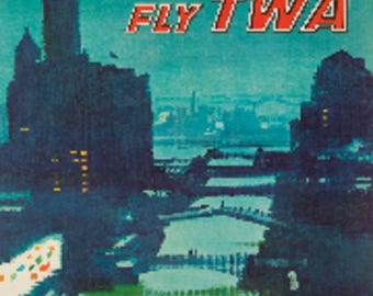 Chicago - TWA USA - Vintage Poster (Art Print - Multiple Sizes Available)