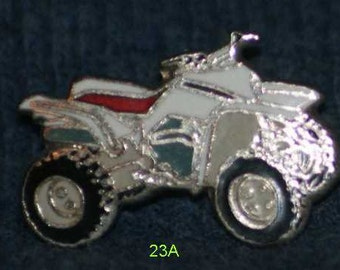 vintage 4-wheeler hat pin and pin back  -- 23a